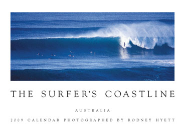 Surfer's Coastline Calendar comprising waves and seascapes from around Australia.